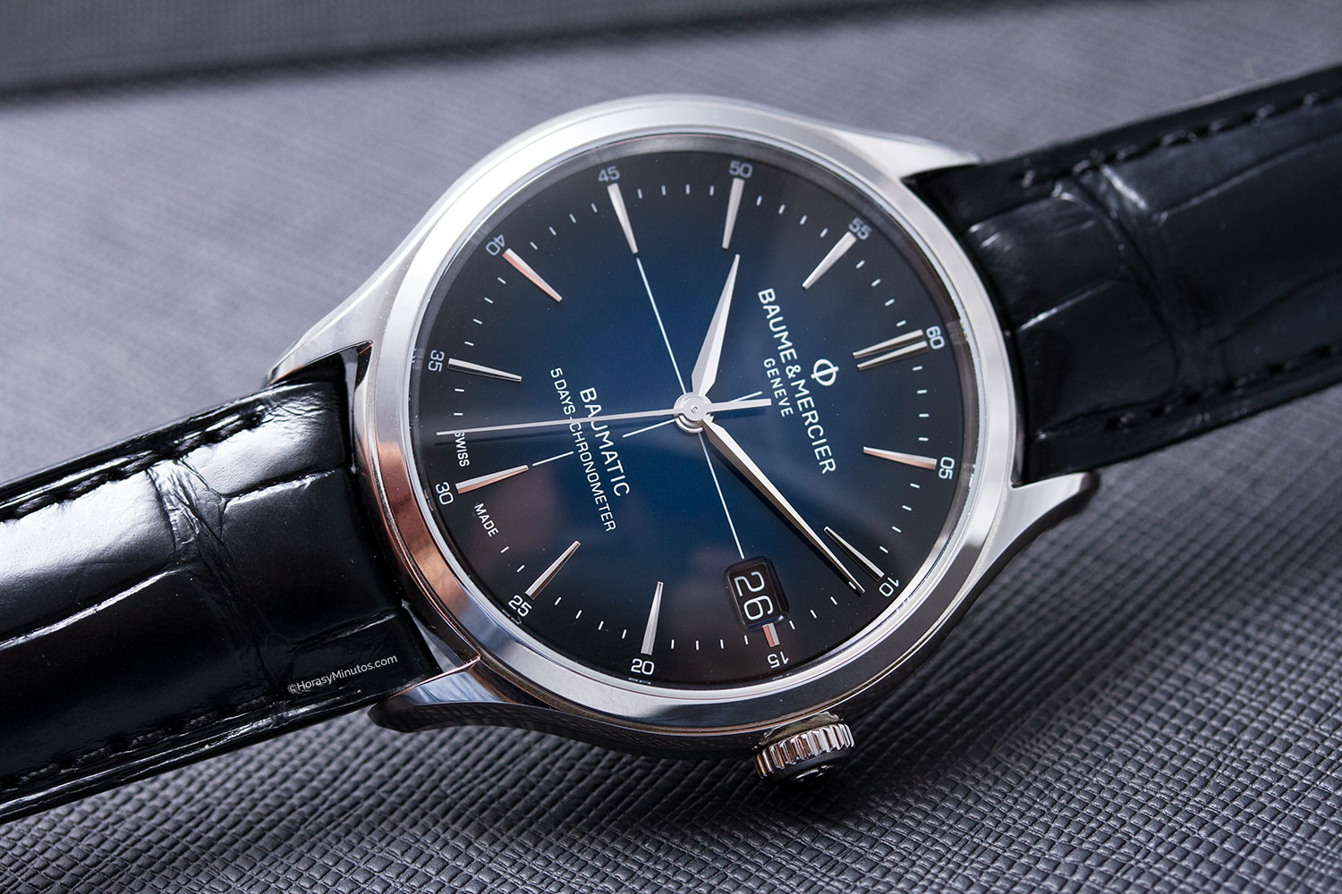 Baume & Mercier Clifton Baumatic Esfera Azul