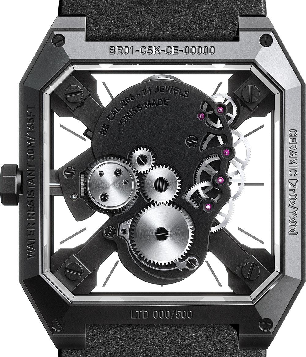 Calibre 206 del Bell & Ross BR 01 Cyber Skull