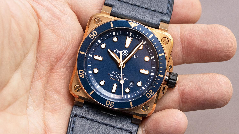 Esfera del Bell & Ross BR 03-92 Diver Blue Bronze