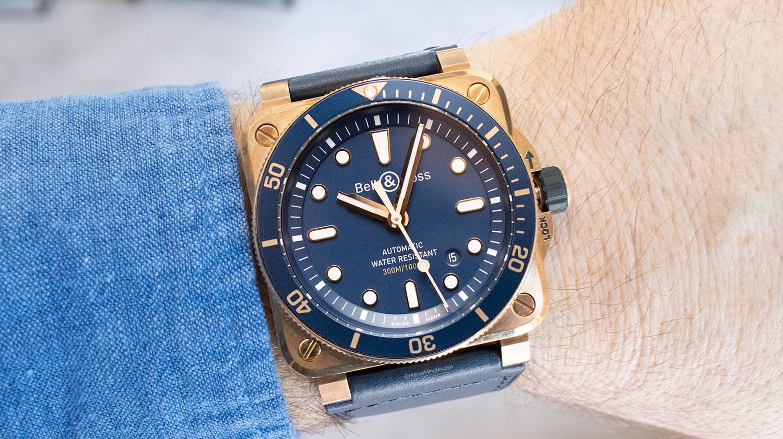 Así queda el Bell & Ross BR 03-92 Diver Blue Bronze