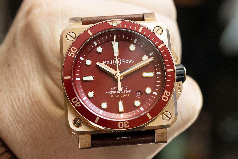 Esfera del Bell & Ross BR 03-92 Diver Red Bronze