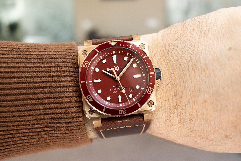 Así queda el Bell & Ross BR 03-92 Diver Red Bronze