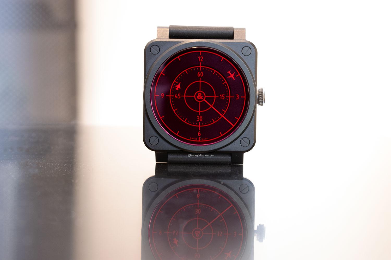Vista frontal del Bell & Ross BR 03-92 Red Radar Ceramic