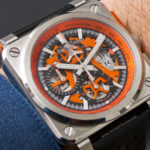 En la muñeca: Bell & Ross BR 03-94 Aéro GT Orange