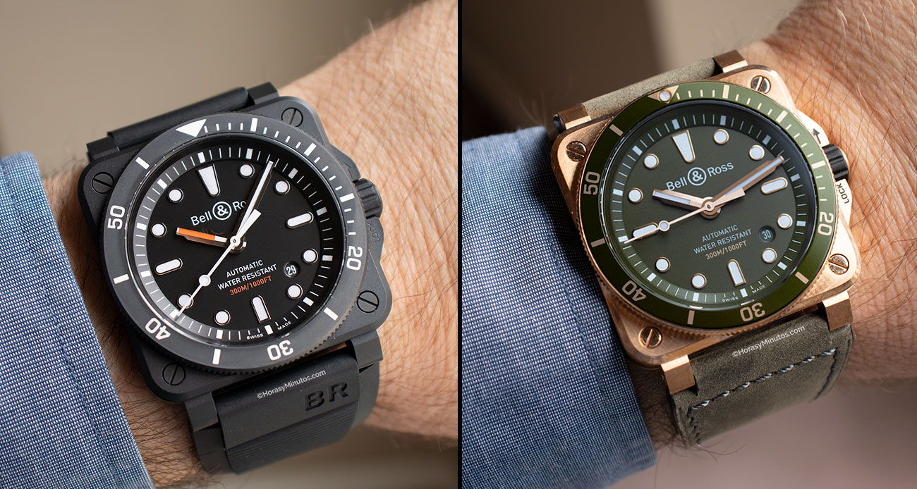 Los dos Bell & Ross BR03-92 Diver