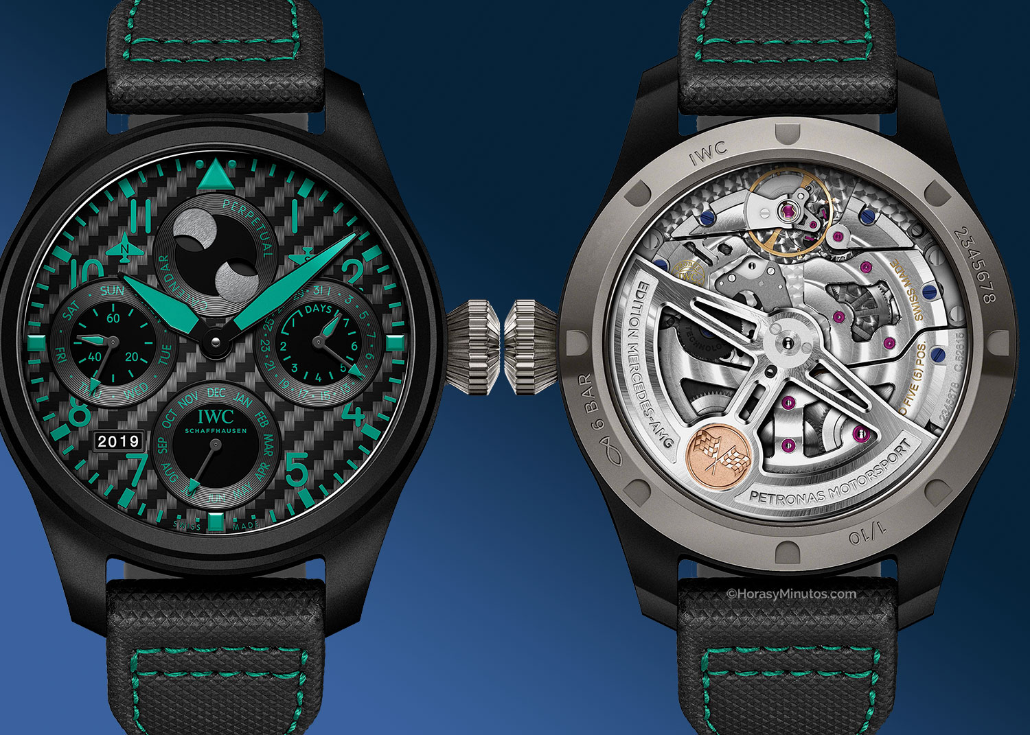 "Big Pilot's Watch Perpetual Calendar Edition ""Mercedes- AMG Petronas Motorsport"