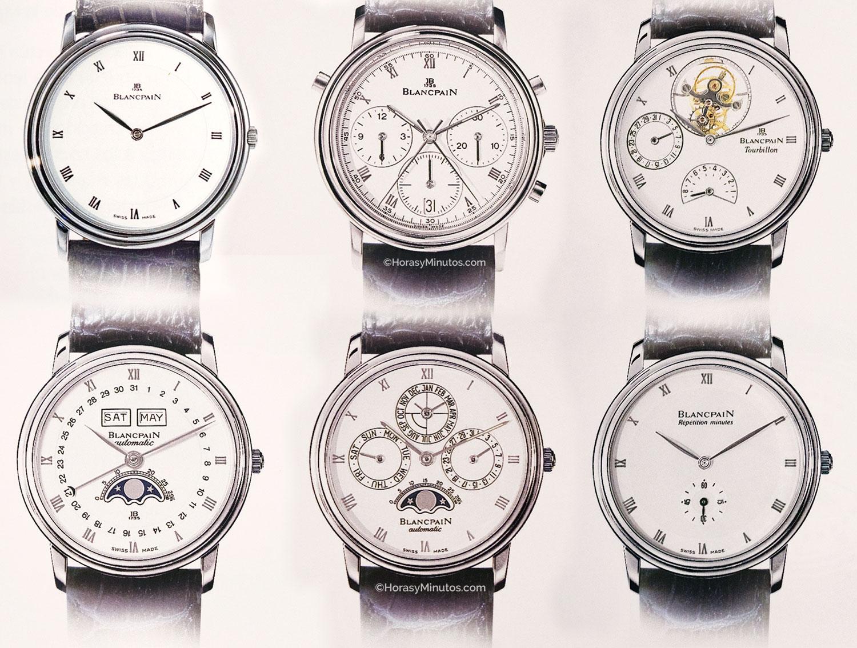 Blancpain 6 relojes años 80