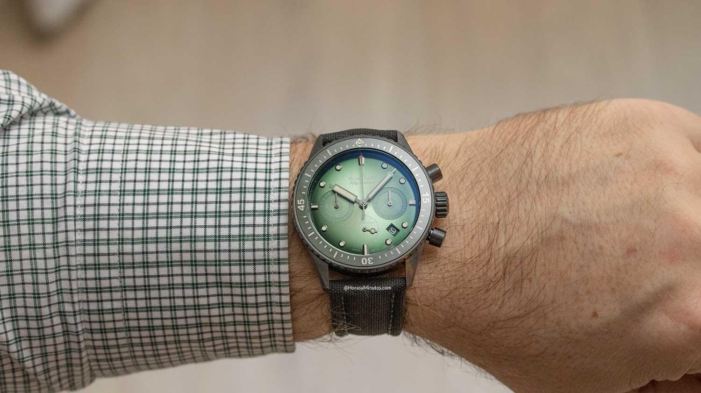 Así queda el Blancpain Bathyscaphe Chronograph Flyback