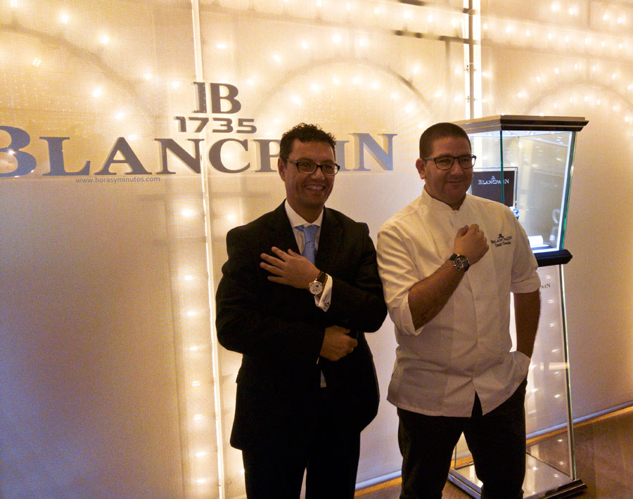 Antonio Lopez, Vicepresidente de Blancpain (y de padres españoles) junto a Dani García en la presentación del nuevo amigo de la marca