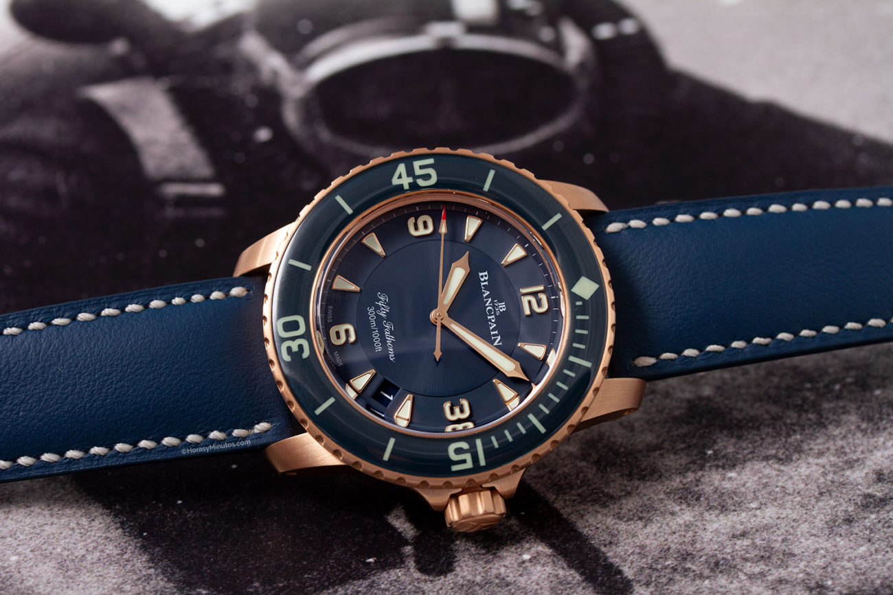 Blancpain Fifty Fathoms Automatique Oro Rojo