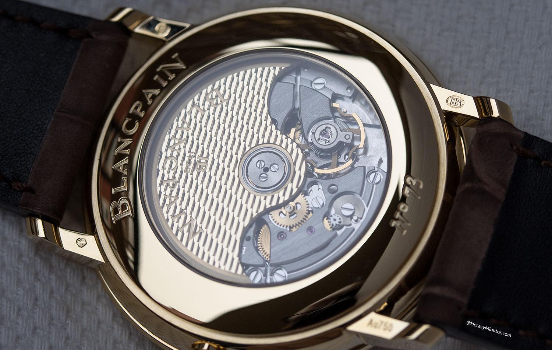 Calibre 1151 del Blancpain Villeret Extraplate Boutique Edition