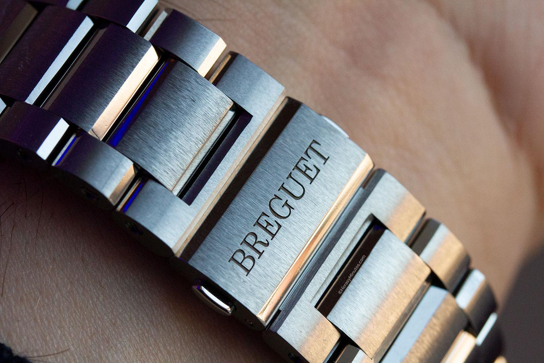 Cierre plegable de titanio del Breguet La Marine Chronographe