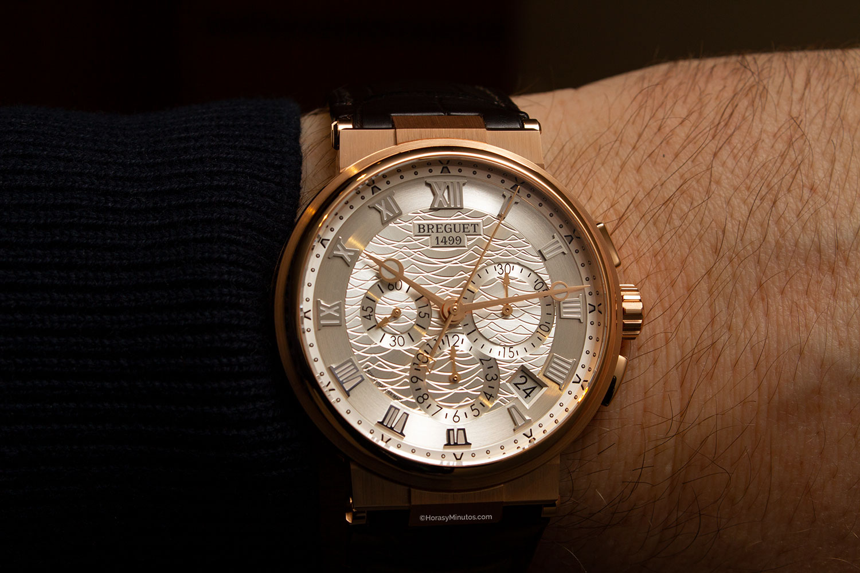 Breguet La Marine Chronographe en oro rosa