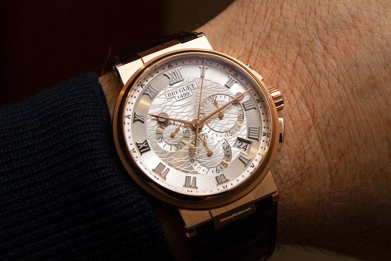 Así queda el Breguet La Marine Chronographe oro rosa