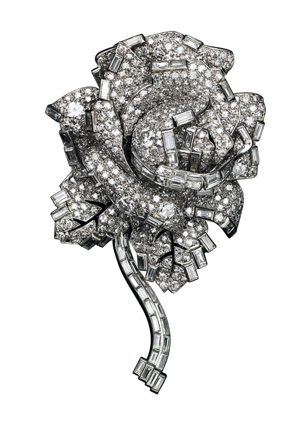 Broche rosa Cartier Londres 1938