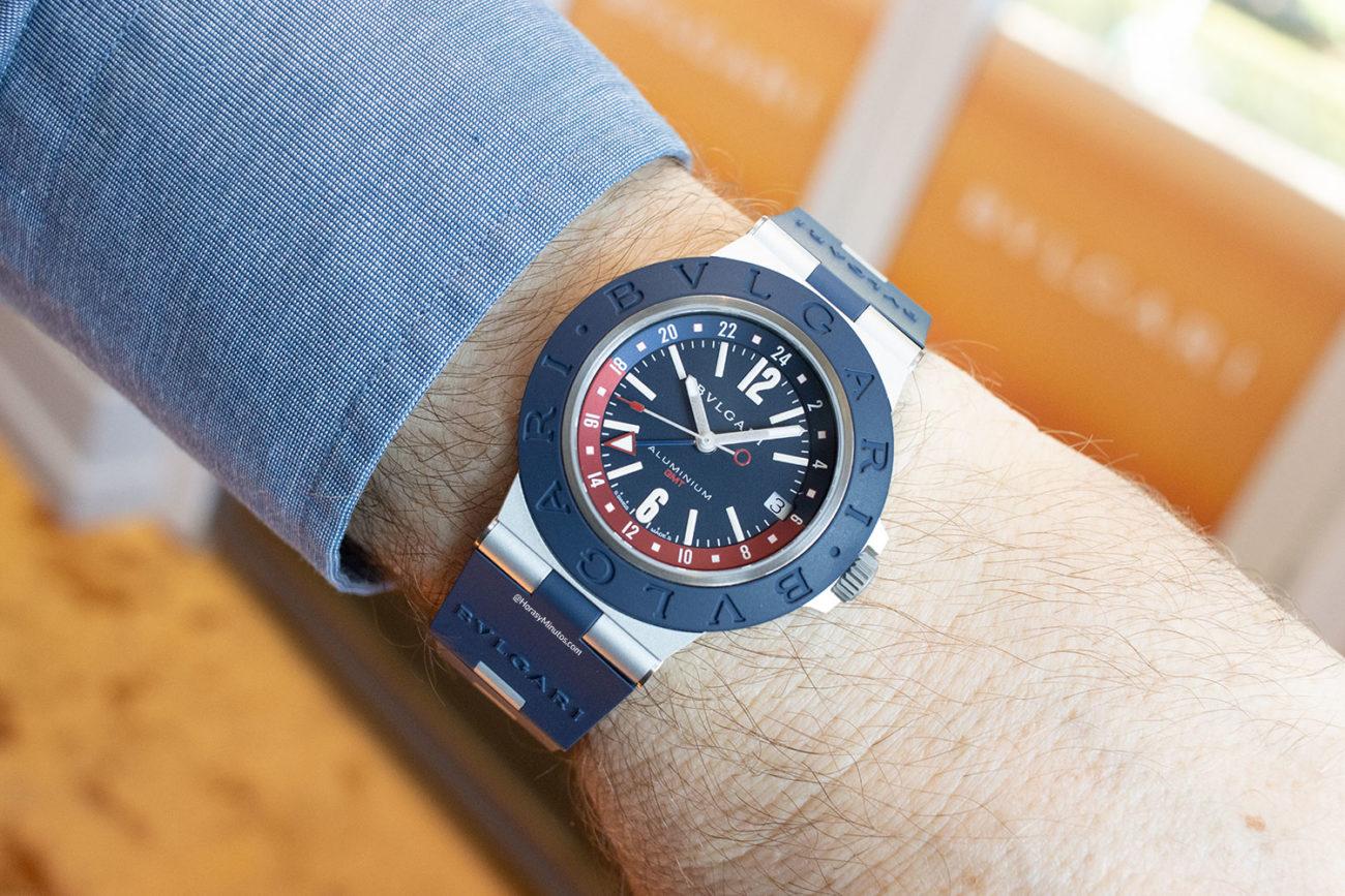 Así queda el Bvlgari Bvlgari Aluminium GMT