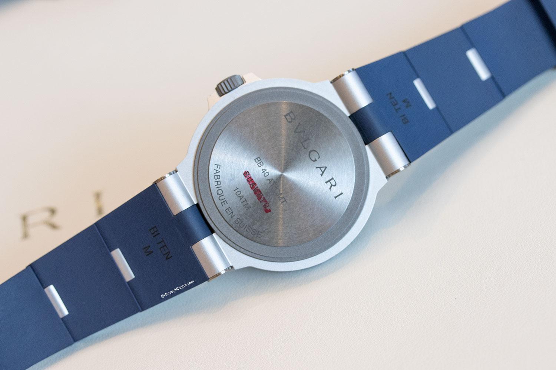 Tapa trasera del Bvlgari Bvlgari Aluminium GMT