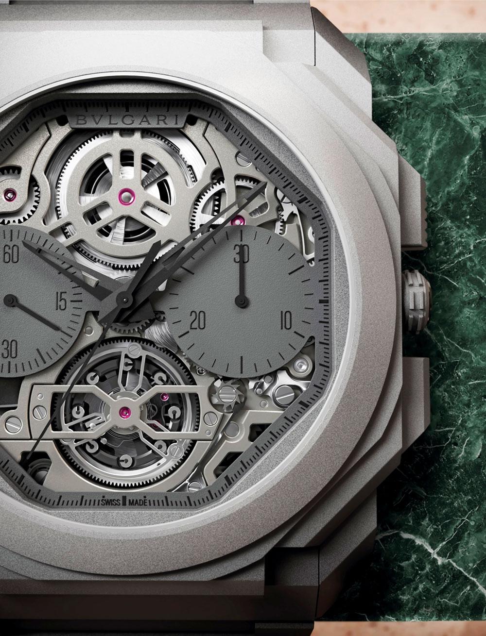 Detalle del Bvlgari Octo Finissimo Tourbillon Chronograph Skeleton Automatic