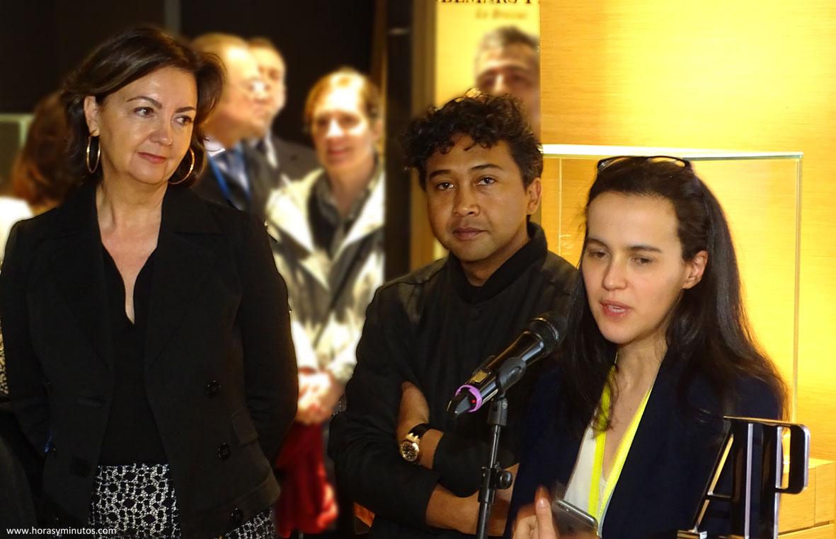 Carmen Sáenz, Joël y Sabrina Amrani