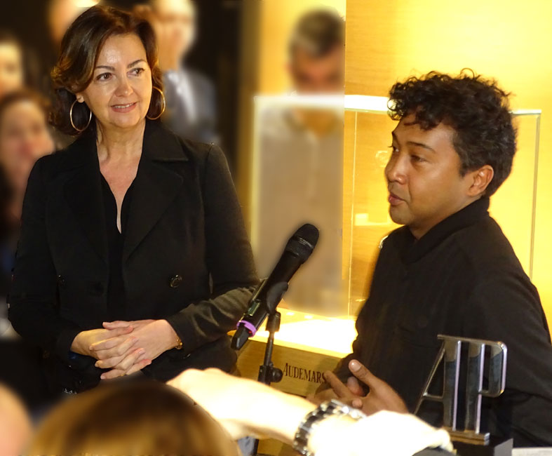 Carmen-Sáenz-y-Joël-Andrianomearisoa-en-la-entrega-del-premio-Audemars-P...