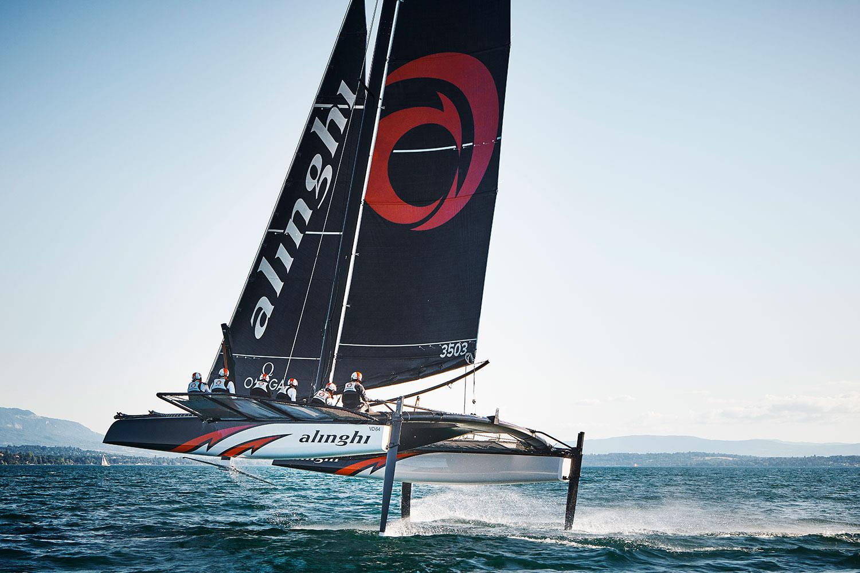 El catamarán del Team Alinghi