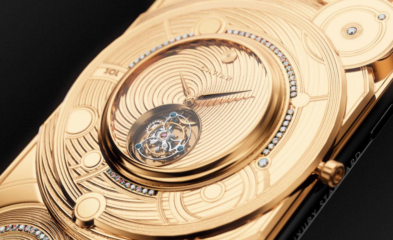 Tourbillon del Caviar iPhone 11 Móviles con Relojes Mecánicos