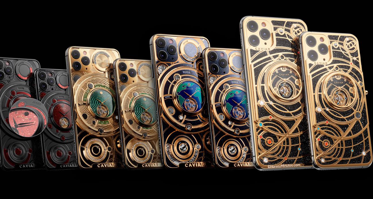 Caviar iPhone Tourbillon Móviles con Relojes Mecánicos