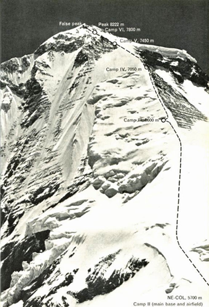 La ruta de ascenso al Dhaulagiri