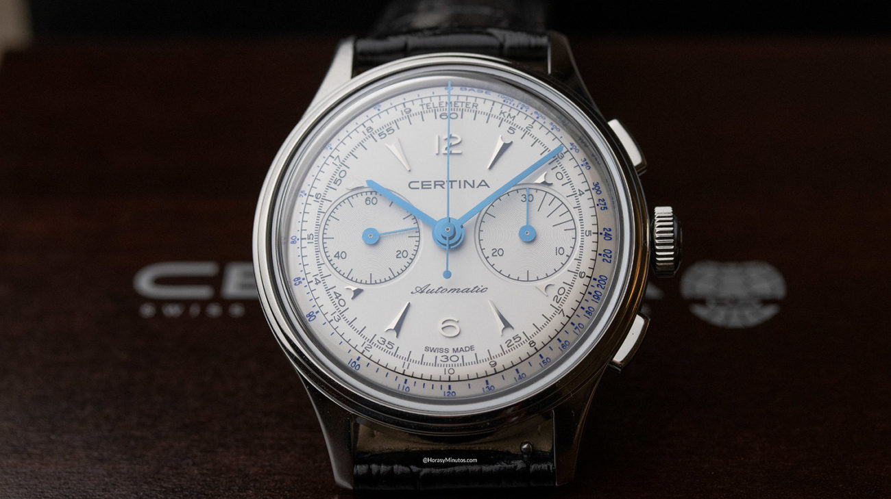 El Certina DS Chronograph Automatic, de frente