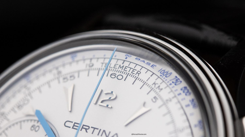 La trotadora del cronógrafo del Certina DS Chronograph Automatic