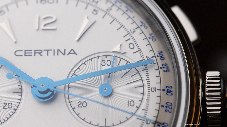 Detalle de la subesfera del Certina DS Chronograph Automatic