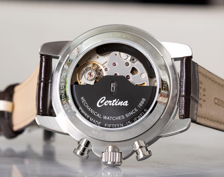 El calibre ETA C01.211 del Certina DS Podium Cronógrafo Automático