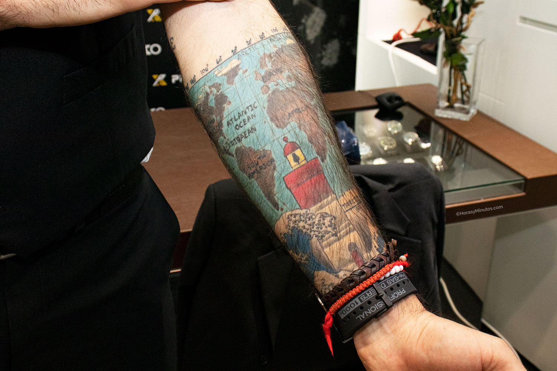 Brazo tatuado de Fernando Raigal