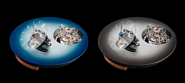Esferas de Endeavour Cylindrical Tourbillon H. Moser × MB&F