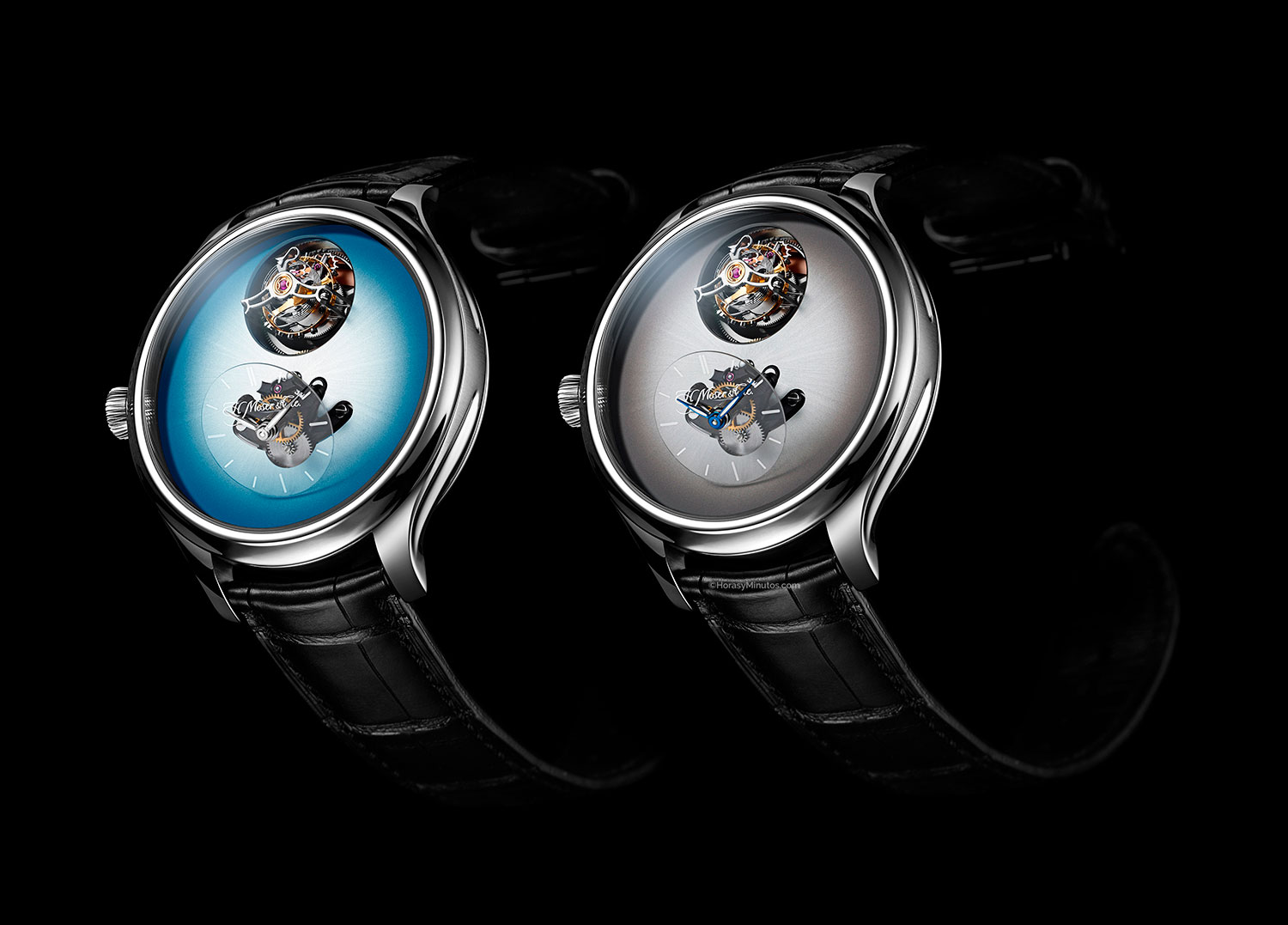 Endeavour Cylindrical Tourbillon H. Moser × MB&F Ice Blue y Off White