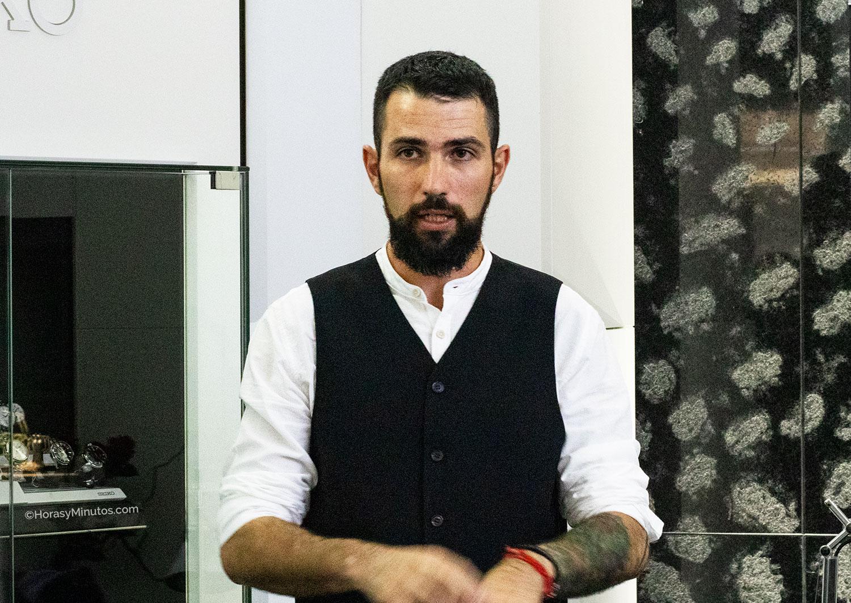 Fernando Raigal durante la presentación en la boutique de Seiko