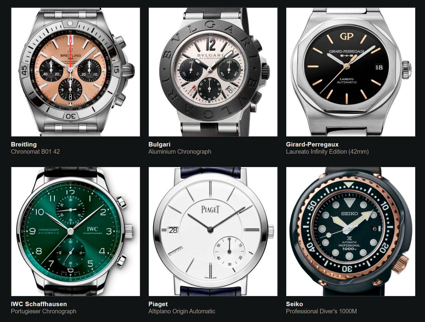 Finalistas del Gran Premio de Relojería de Ginebra 2020 Iconos