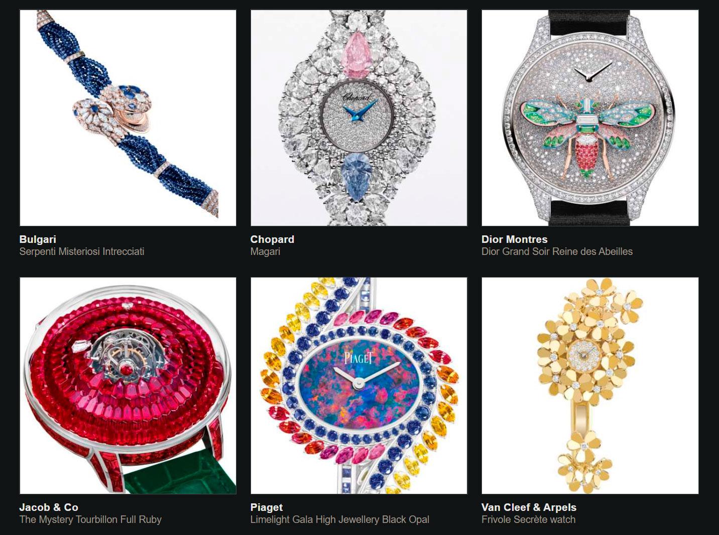 Finalistas del Gran Premio de Relojería de Ginebra 2020 reloj joya
