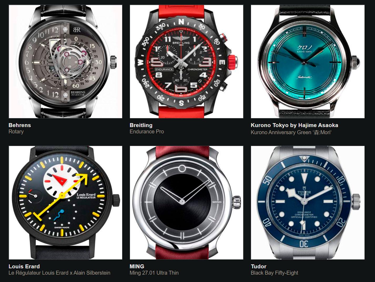Finalistas del Gran Premio de Relojería de Ginebra 2020 reto