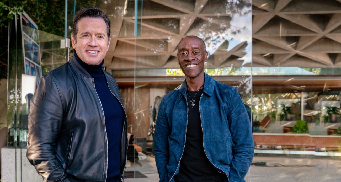 François-Henry Bennahmias y Don Cheadle (War Machine in las películas de Marvel)