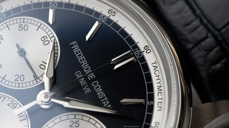 Detalle de la esfera del Frederique Constant Flyback Chronograph Manufacture