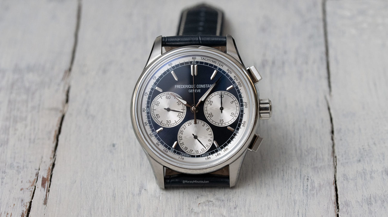 Frontal del Frederique Constant Flyback Chronograph Manufacture
