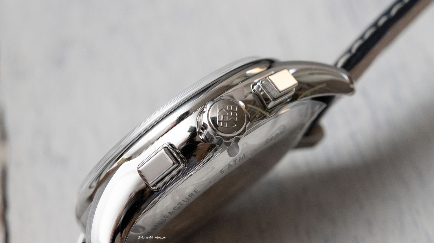 Lateral del Frederique Constant Flyback Chronograph Manufacture