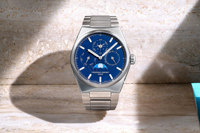 Frederique Constant Highlife Calendario Perpetuo azul