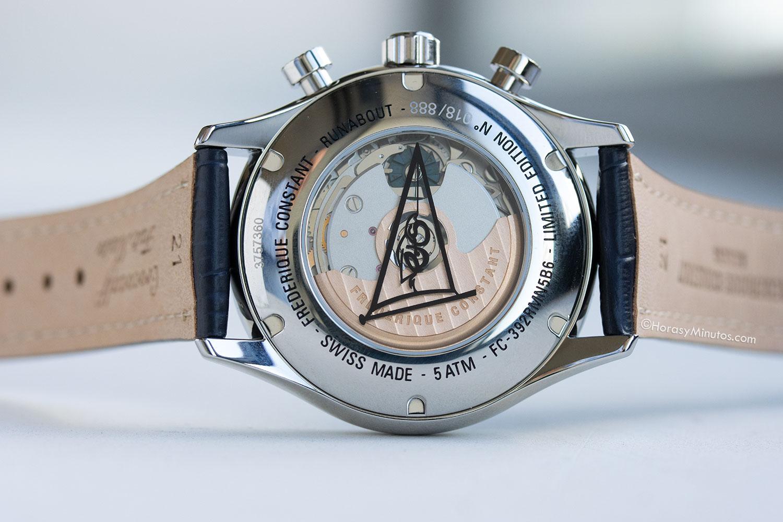 Vista trasera del Frederique Constant Runabout Chronograph