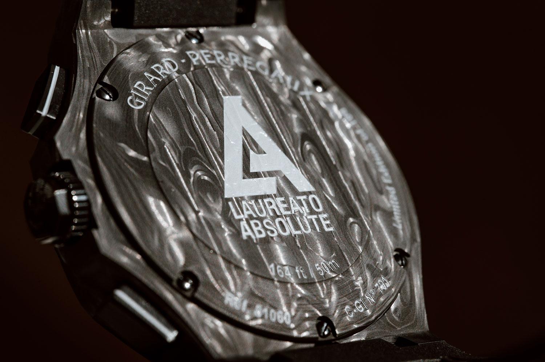 trasera del Girard-Perregaux Laureato Absolute Crystal Rock