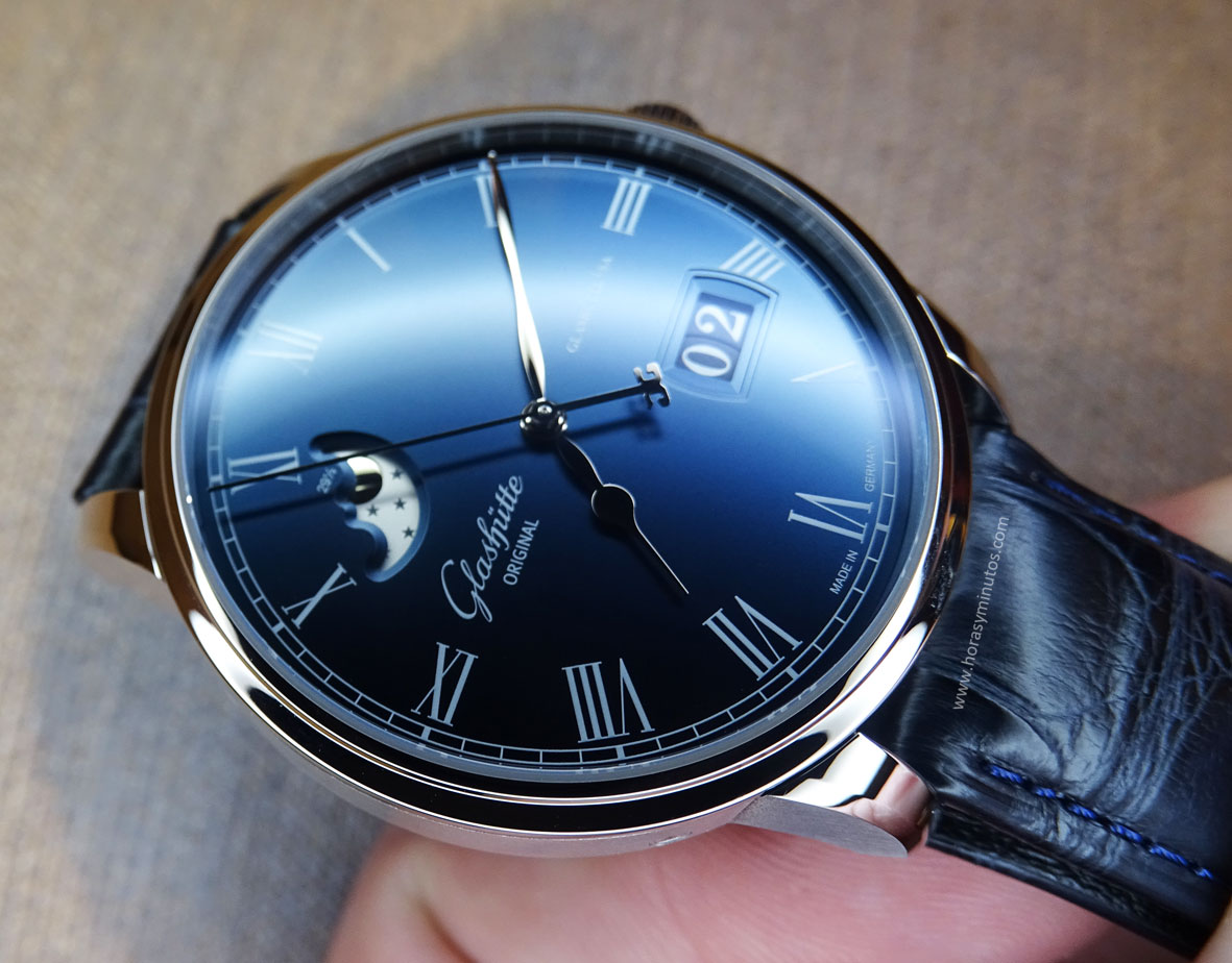 Glashütte Original Senator Panorama Date Moon Phase -numerales