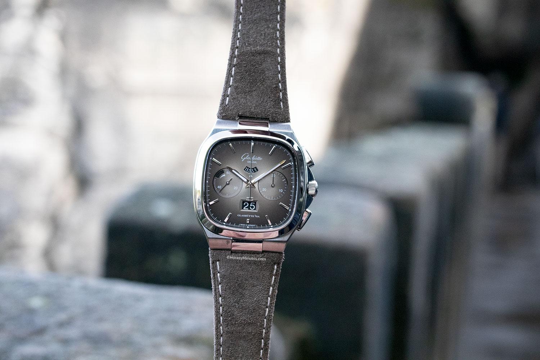 Glashütte Original Seventies Chronograph Panorama Date Limited Edition de esfera gris