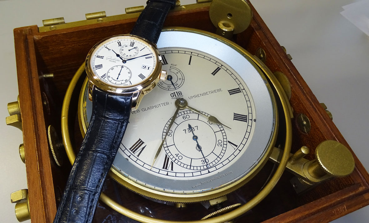 Glashutte Original Senator Chronometer sobre cronometro marino
