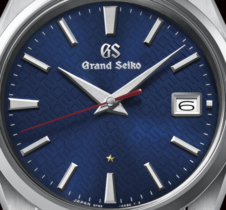 Detalle de la esfera del Grand Seiko 60 aniversario 9F85